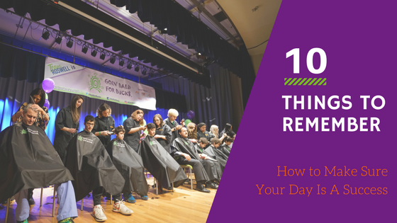 10 Things to Remember to Have the Day of Your Event